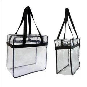 Bags - Clear PVC Crystal Transparent Tote Bag